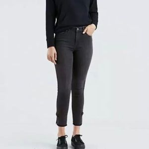 Levi's 721 High Rise Skinny Jeans Ankle Bows 6 28